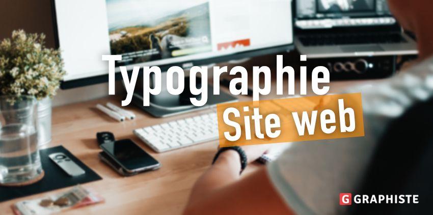Typographie site web