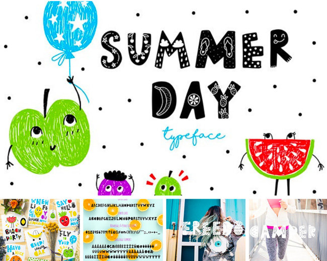 typographie graphiste summer day