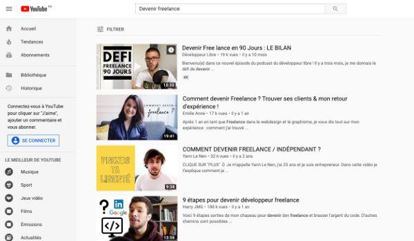 Youtube exemples miniatures vidéos
