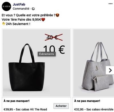 Facebook Ads urgence