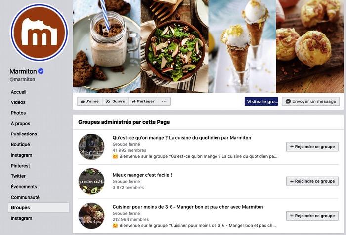 Groupe Facebook Marmiton