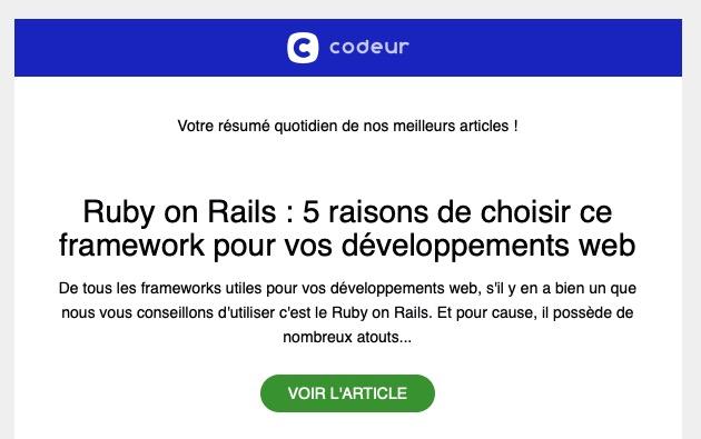 Newsletter RSS Codeur