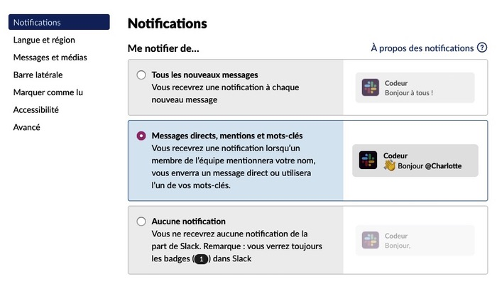 Notification Slack