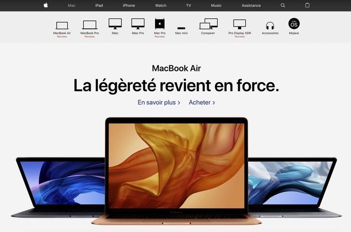 Site web Apple