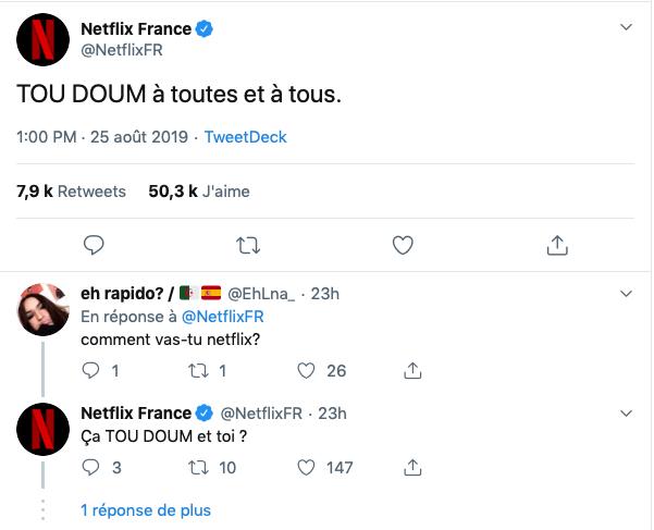 répondre aux followers Netflix contenu twitter redacteur