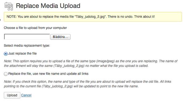 Replace Media