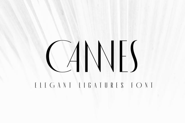 cannes typographie gratuite moderne fashion