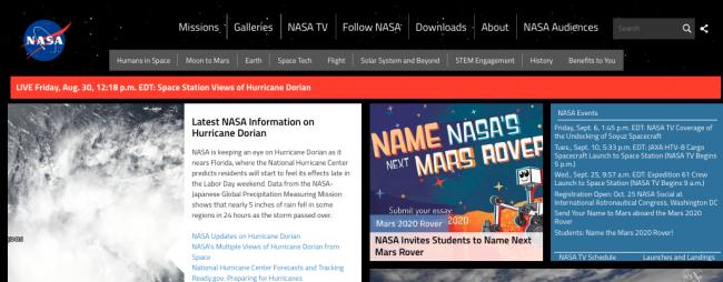 website site nasa histoire du logo graphiste