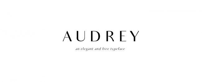 Audrey typographie pour graphiste gratuite