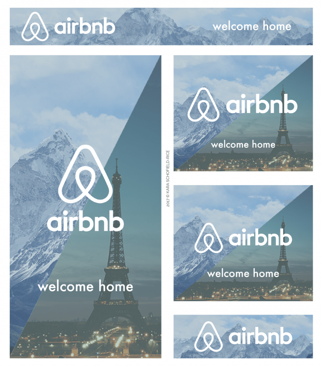 banner web Airbnb exemple pour graphiste inspiration