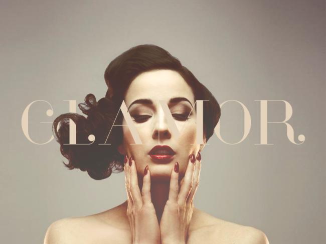 glamour typographie mode et fashion