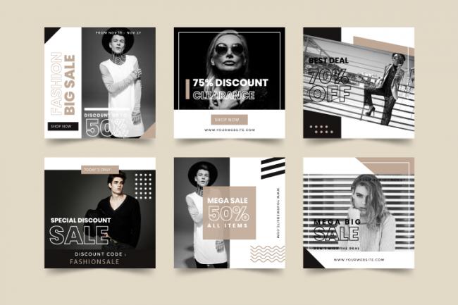 bannière web mode tanner ads exemple pour graphiste