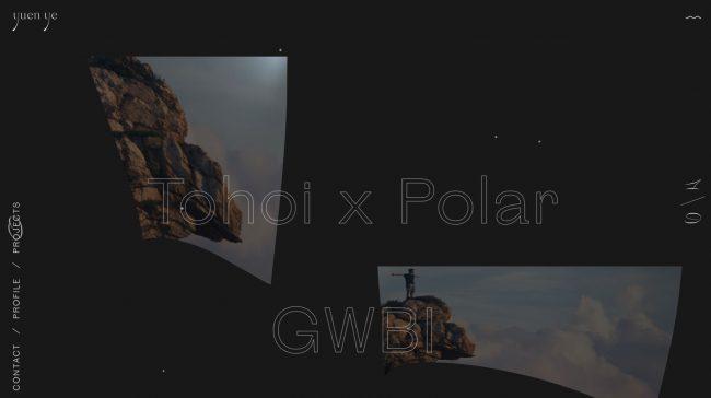 portfolio glitch effect images mouvantes
