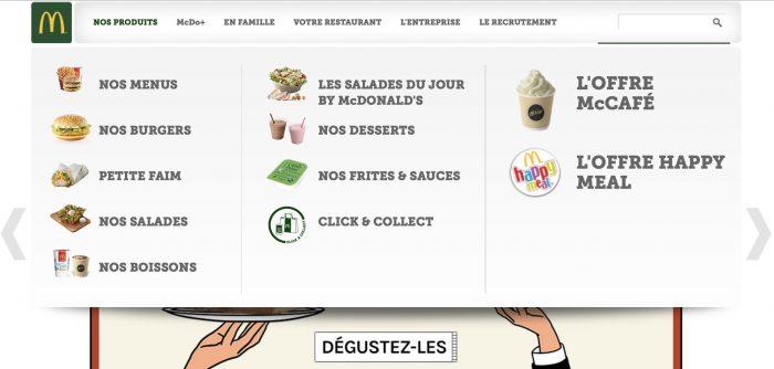 Mega Menu exemple créatif concevoir graphiste blog