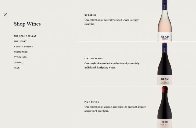 Mega Menu vin luxe graphiste blog