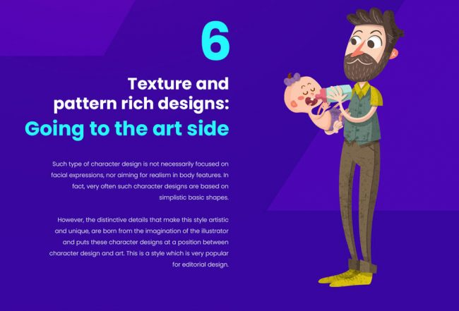 top des tendances de personnages illustration graphiste freelance dessin motif texture