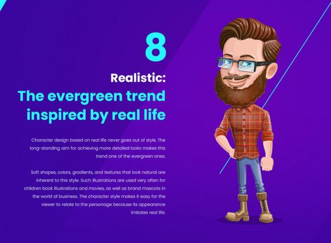 top des tendances de personnages illustration graphiste freelance réaliste design