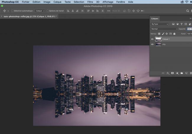 Tuto Photoshop graphiste creer un reflet dans l'eau