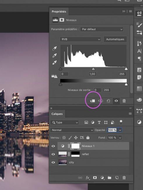 calque d'ecratage niveau tutoriel photoshop graphiste