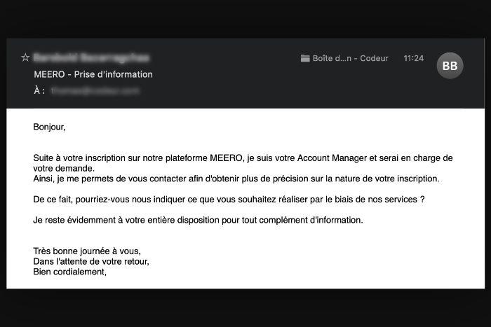Exemple email personnalisé