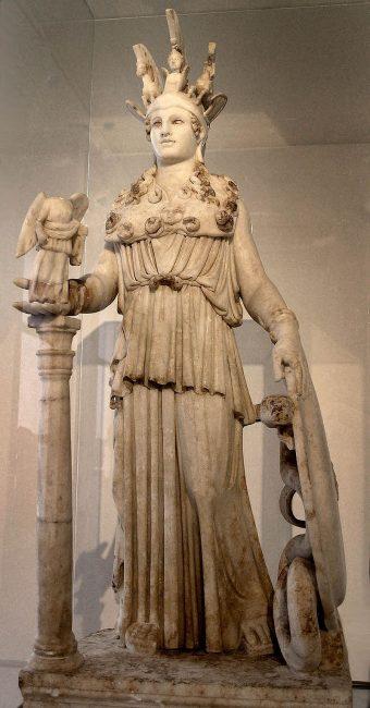 logo de chouette et Athena statut antique