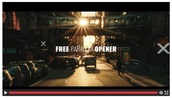 parallax template gratuit free pour graphiste video monteur freelance