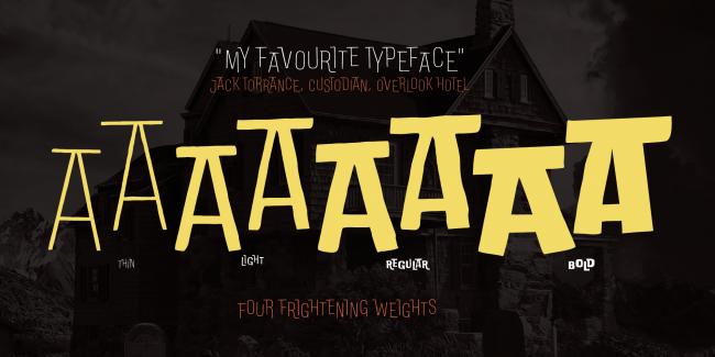 free font doubleness typographie halloween