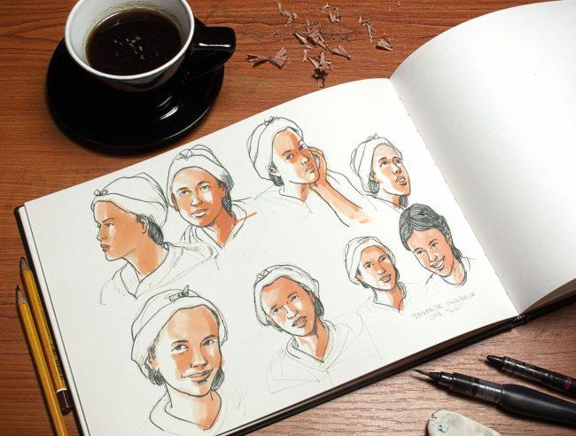 comment faire une bande dessiné crayonnage étape sketch graphiste