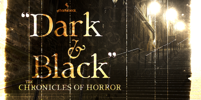 dark and black typographie gratuite pour Halloween