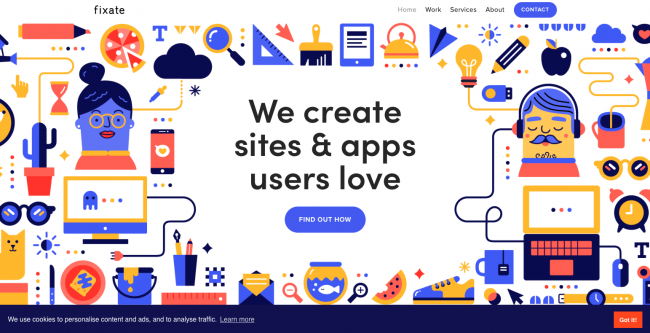 forme géométrique site web