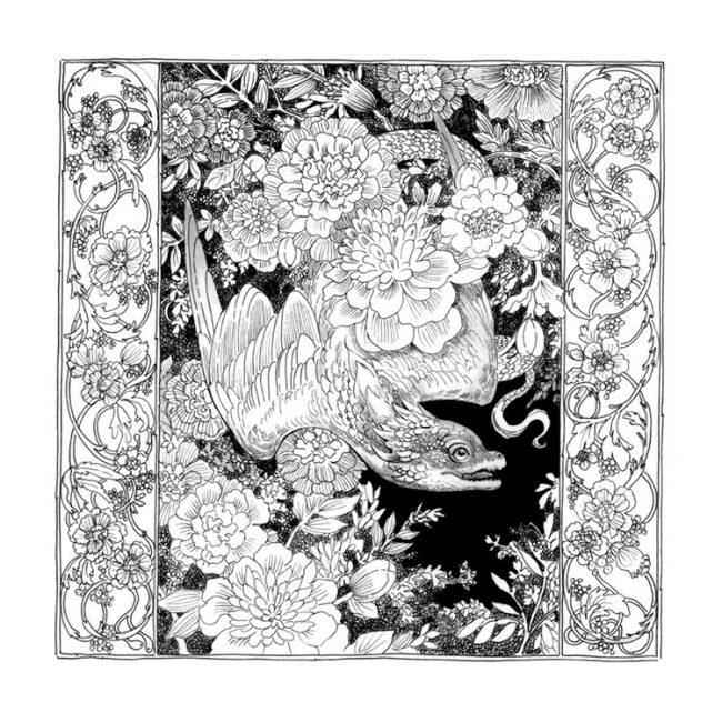 inktober illustration noir et blanc