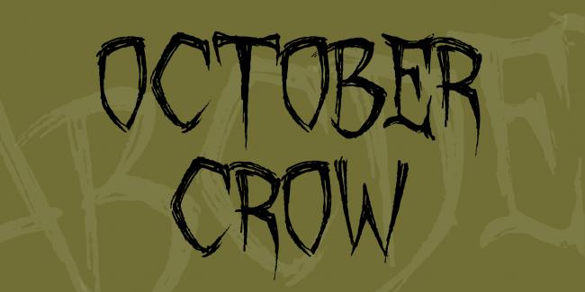 typographie gratuite pour graphiste theme halloween