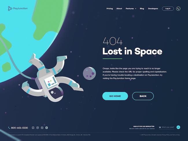 page 404 oubli dans la conception d'un site