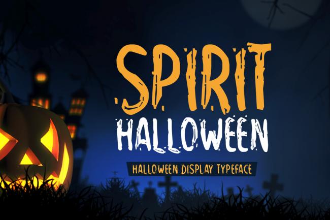 spirit halloween font typographie gratuite pour graphiste