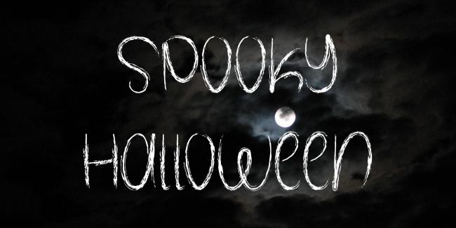 typographie halloween gratuite graphiste