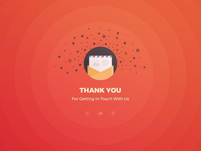 page de remerciement site web newsletter