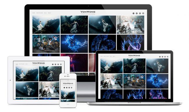 web design blog site de photographe