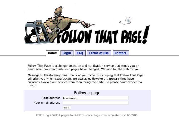 Follow That page