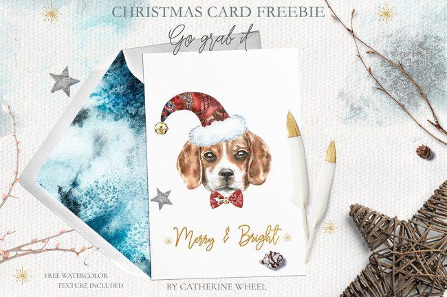 Christmas carte de voeux
