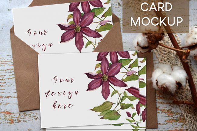 free mockup card de voeux