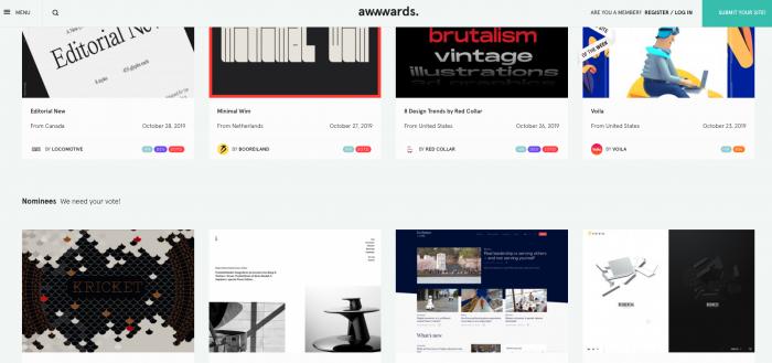 inspiration awwwwards creatif site