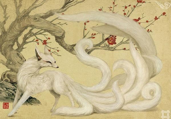 kitsune renard japonais symbolique logo