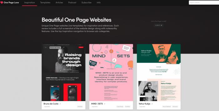inspiration créatif site web
