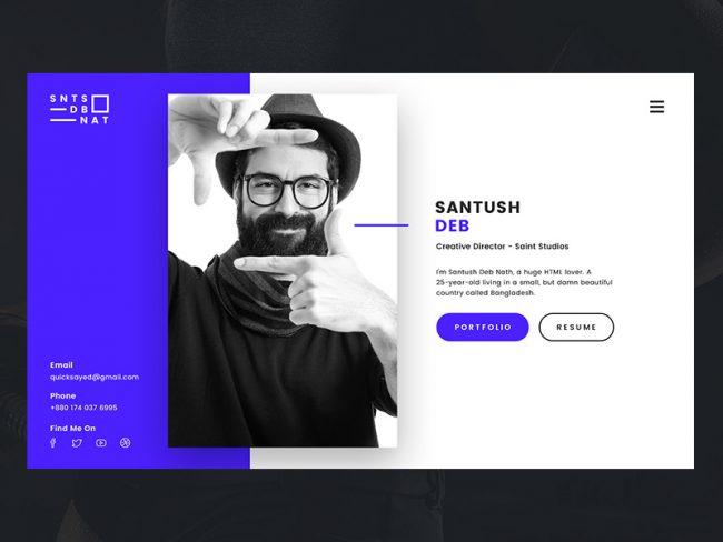 Cv créatif portfolio site