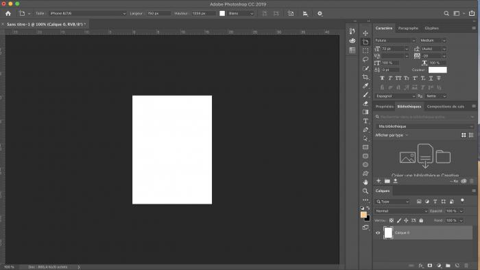 reorganisation panneau photoshop optimiser interface