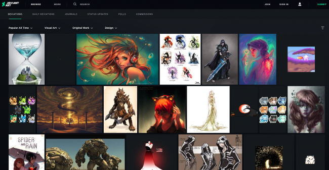 deviantart site inspirant créatif inspiration