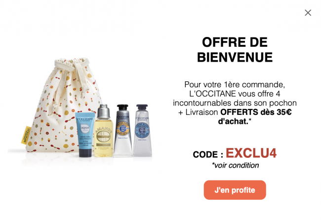 occitane bons cadeau e-commerce seo