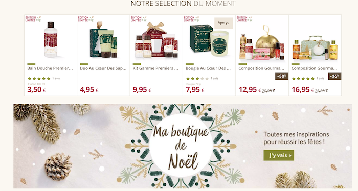 website pour noel e-commerce