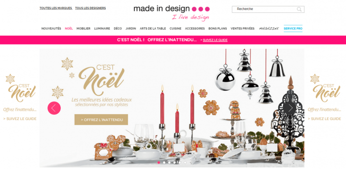 made in design decoration website noel