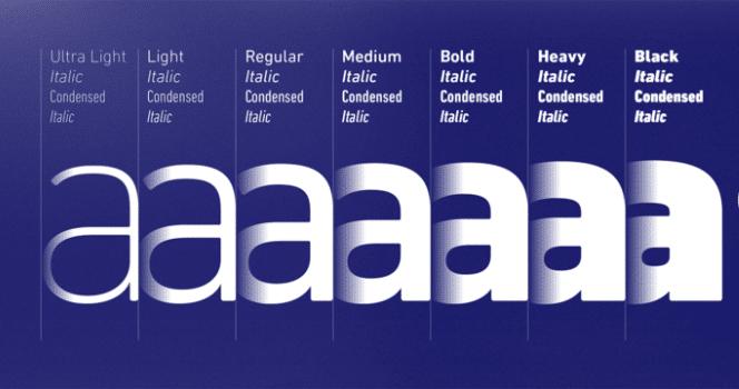 Din next typographie 2020